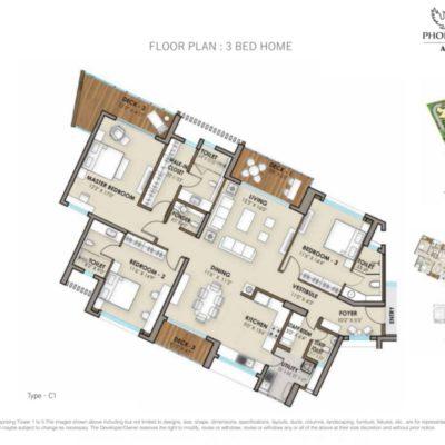 phoenix-one-bangalore-west-3-bhk-floor-plan
